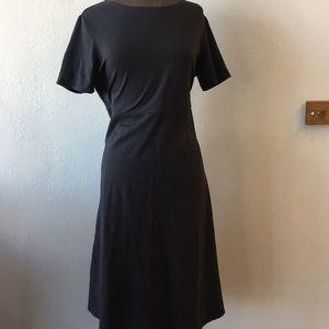 TravelSmith Black Travel Dress Midi Length